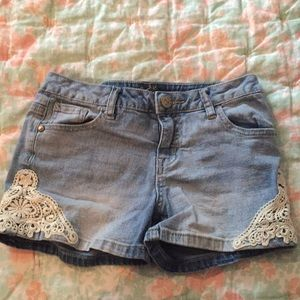 Justice denim shorts